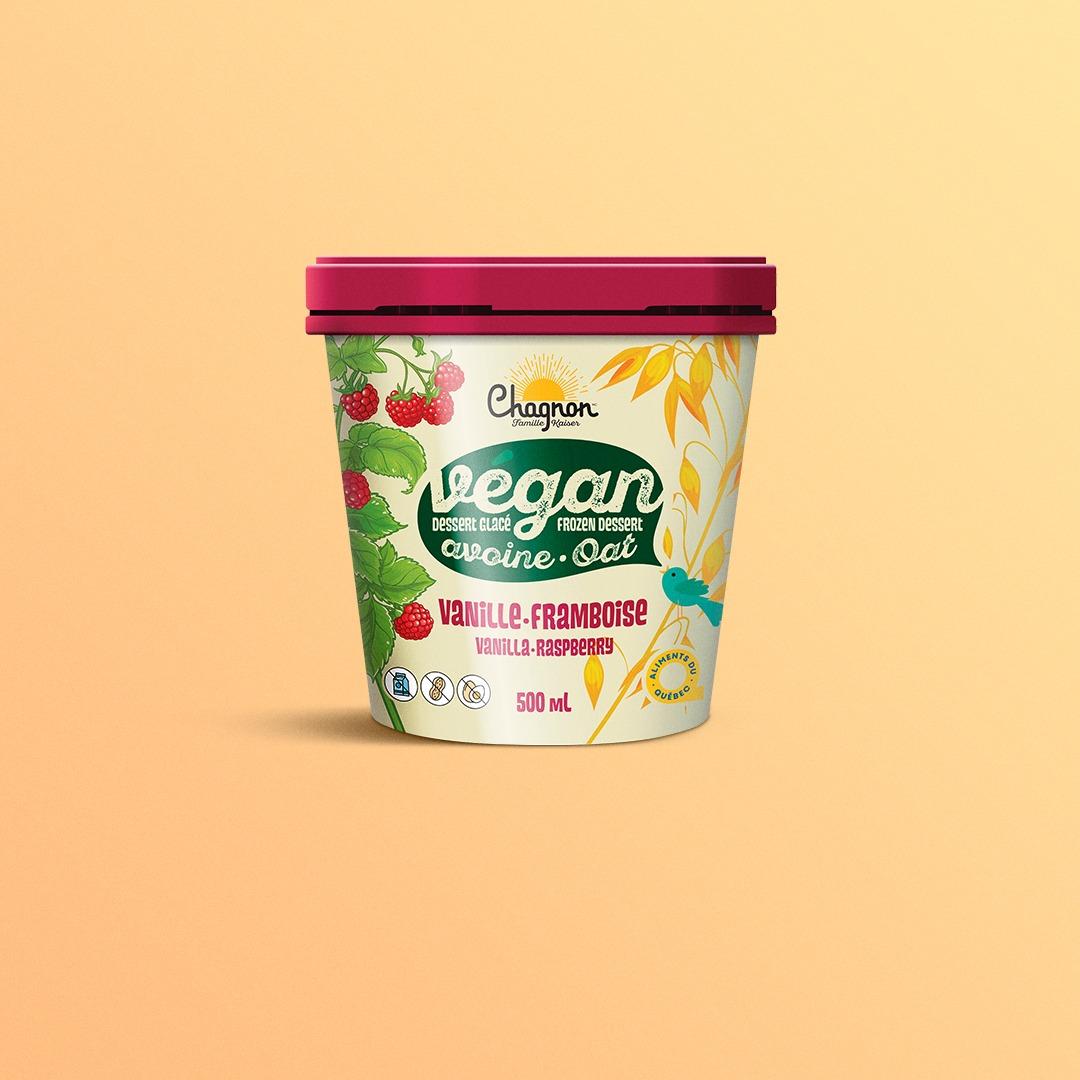 Chagnon vegan raspberry ice cream