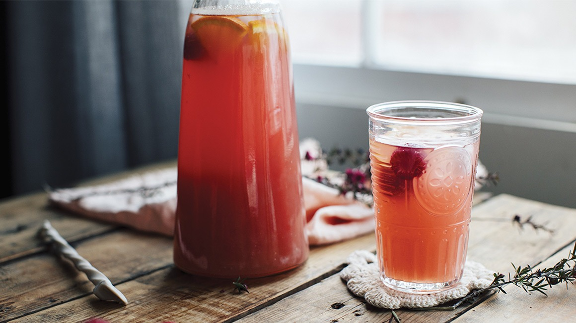 Raspberry & Green Tea Punch